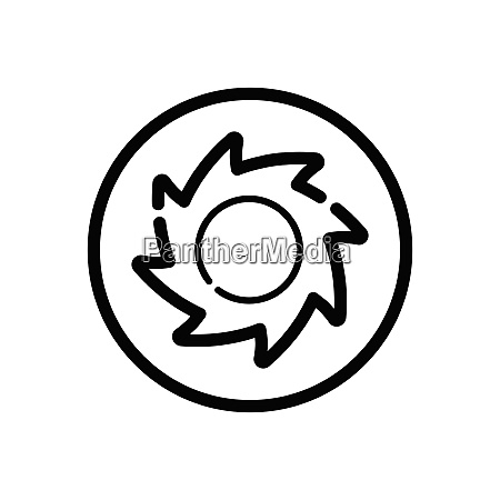 hurricane category four outline icon in