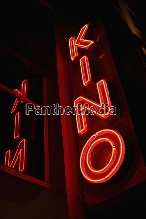 neon red movie theater sign berlin