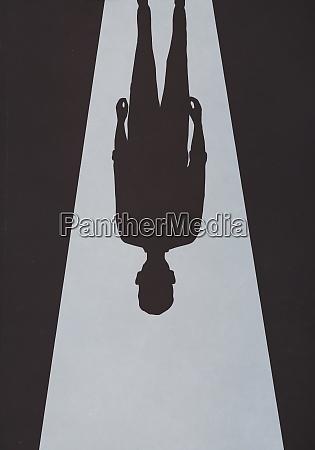 ominous upside down shadow
