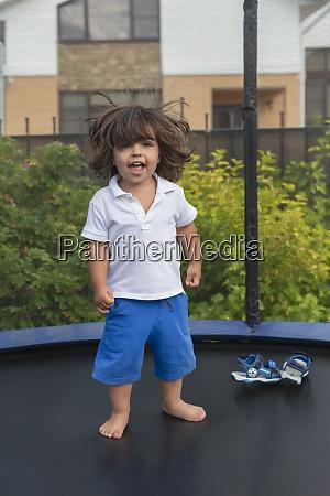 portrait happy cute toddler boy on