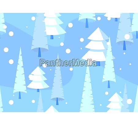 abstract seamless pattern winter forest background