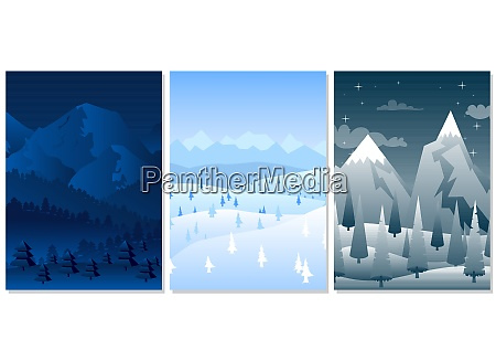 winter background collection