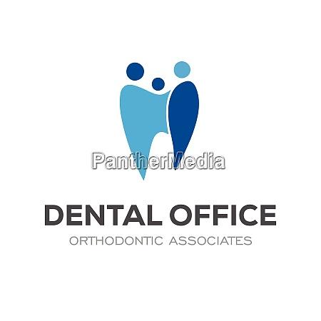 colorful modern dental oral medicine logo