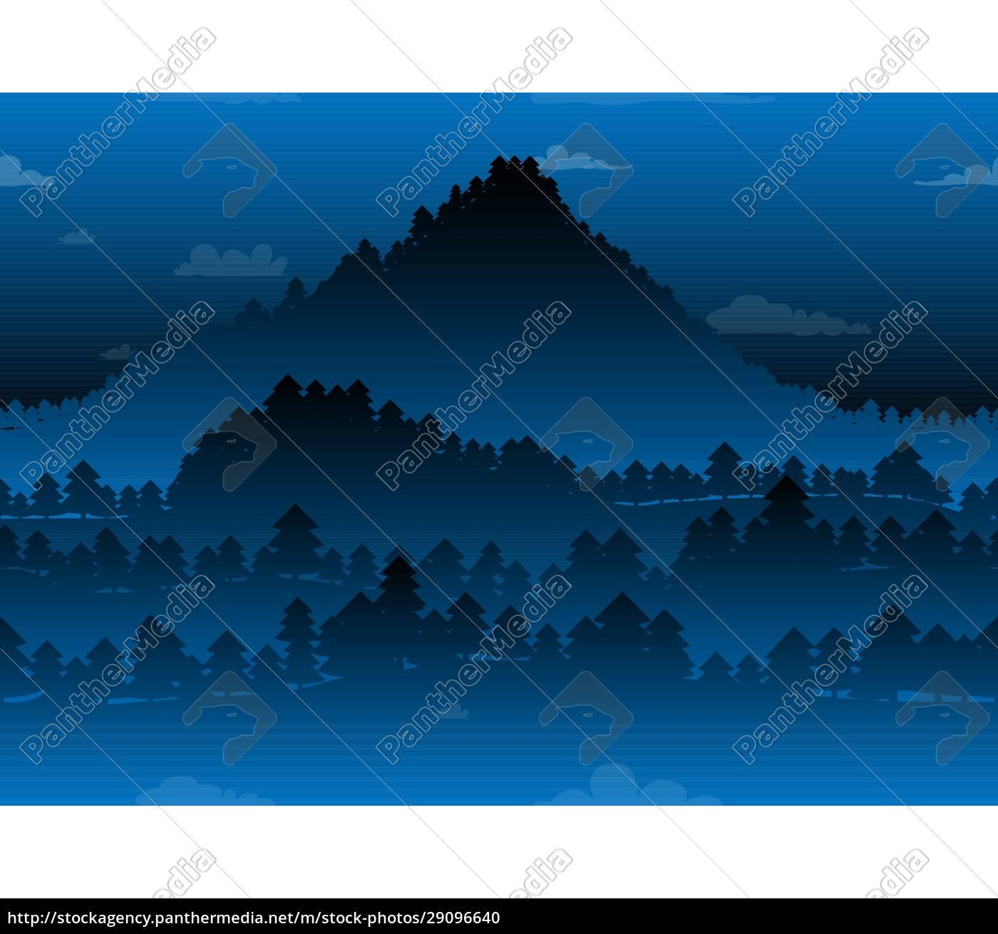 abstract, seamless, pattern, , dark, winter, forest - 29096640