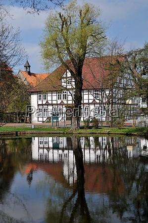 pond in barsinghausen in lower saxony