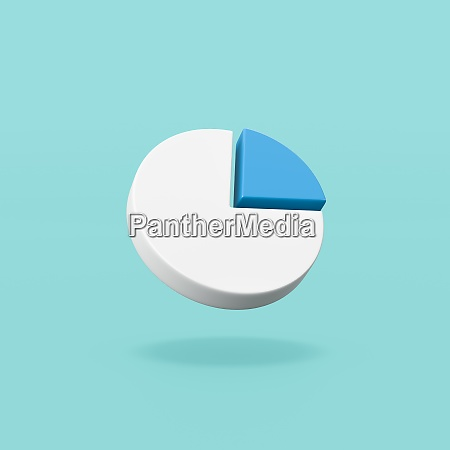 pie diagram symbol shape on blue