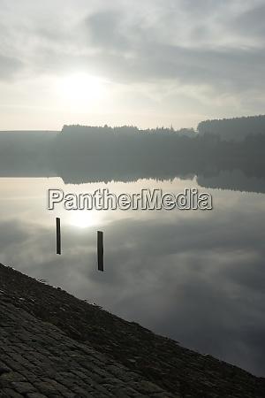 vertical winters landscape at redmires reservoir