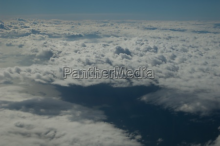 cloudscape view from an airplane on