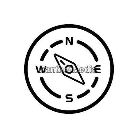 compass north west direction weather icon