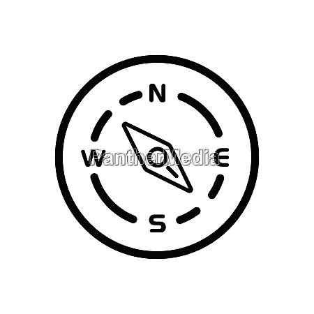 compass south east direction weather icon
