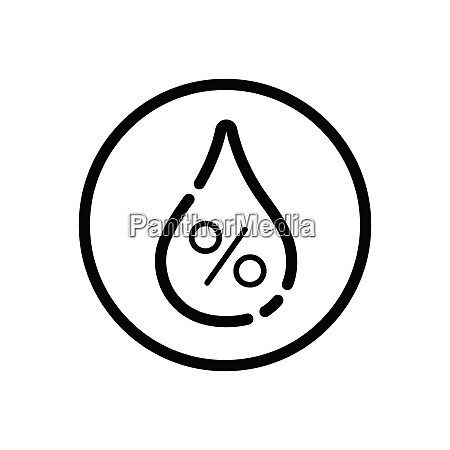 humidity weather icon in a circle