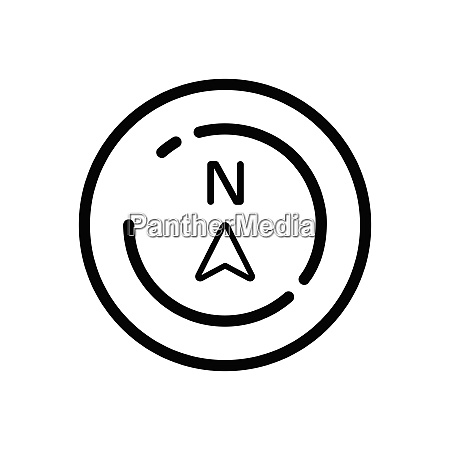 north direction weather icon in a