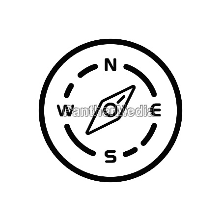 compass., north, east, direction., weather, outline - 29103964