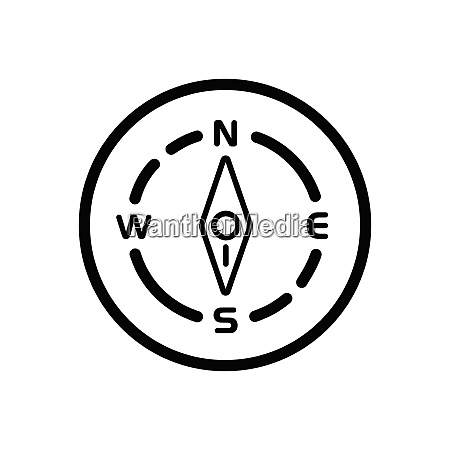 compass., south, direction., weather, icon, in - 29103971