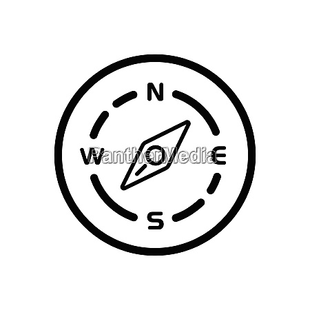 compass., south, west, direction., weather, icon - 29103974