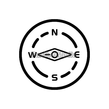 compass west direction weather icon in
