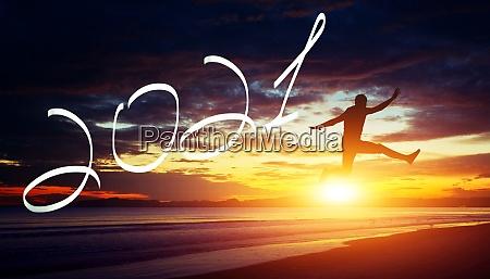 happy new year background start in