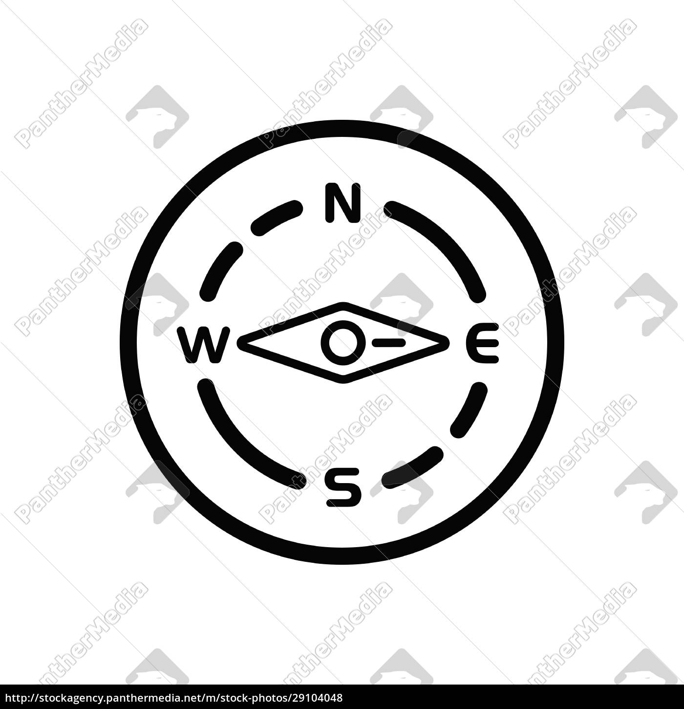 compass., east, direction., weather, icon, in - 29104048