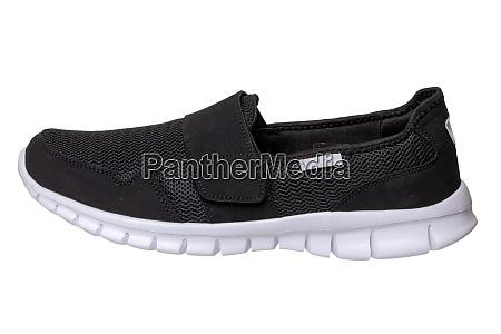 mans black shoes close up of