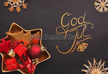 god jul scandinavian merry christmas with