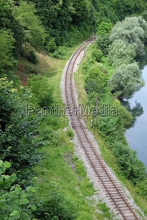 railroad curve near ozalj croatia