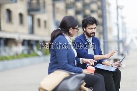 business people with laptop working on
