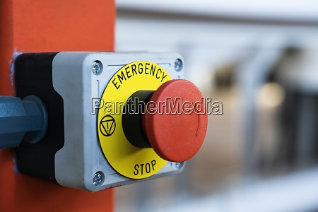 emergency button in technical production