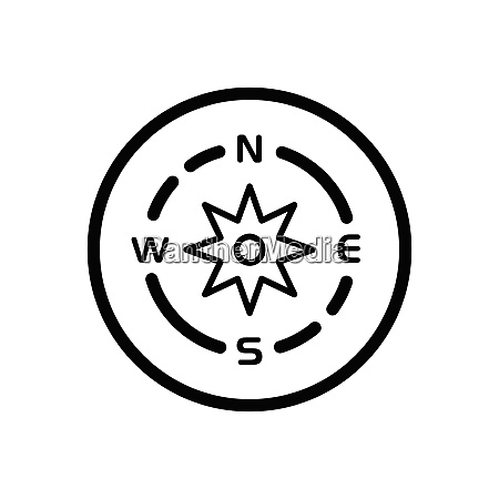 compass weather icon in a circle