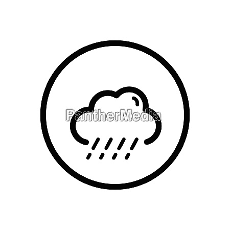 sleet and cloud weather icon in