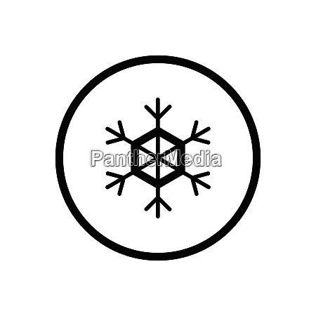 snowflake weather icon in a circle