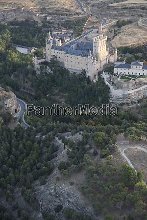 spain segovia aerial view of the