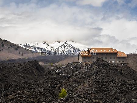 italy sicily mount etna lava fields