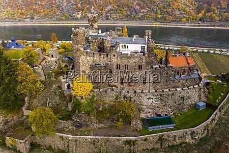 germany rhineland palatinate trechtingshausen view of
