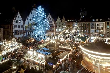 germany hesse frankfurt christmas market at