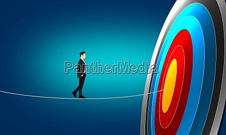 route to success concept businessman walk