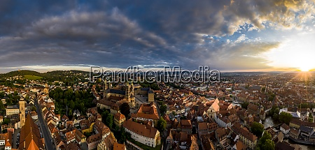 sunrise in old town at bamberg