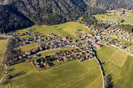 germany bavaria schleching helicopter view of