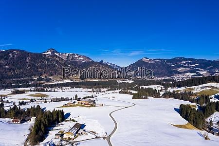austria tyrol kossen helicopter view of