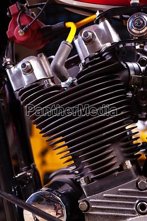 custom classic motorbike engine