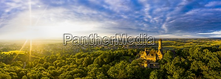germany bavaria bamberg helicopter panorama of