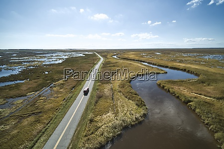 usa maryland drone view of road