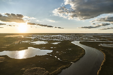 usa maryland drone view of marsh