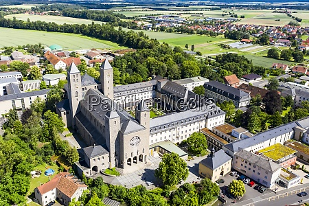 aerial, view, of, munsterschwarzach, abbey, during - 29113001