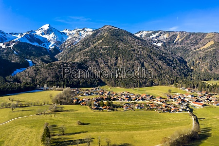 germany, , bavaria, , schleching, , helicopter, view, of - 29113133