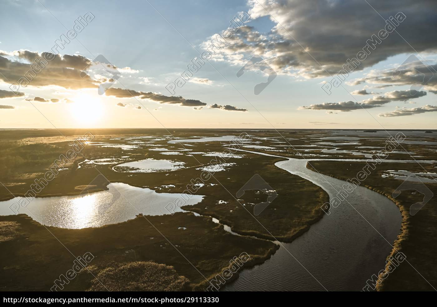usa, , maryland, , drone, view, of, marsh - 29113330