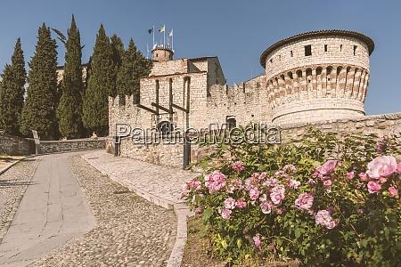 italy brescia view to the castle