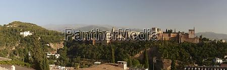 spain granada view over alhambra sierra