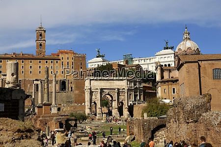 italy rome temple of vespasian and