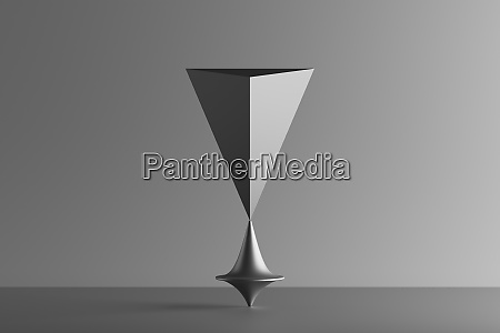 three dimensional render of metallic top