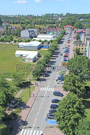 panorama of wladyslawowo town from above